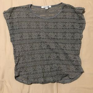 Grey lace forever 21 top